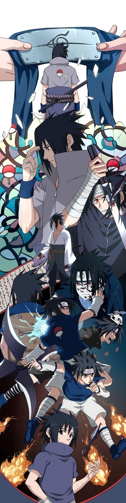 sasuke uchiha fighting style