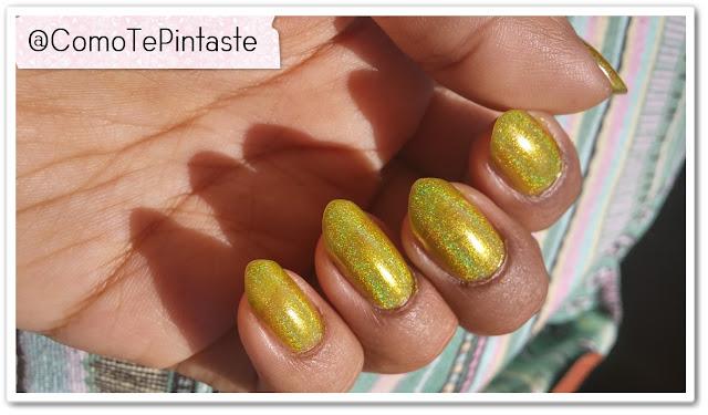 swatch jade oasis amarillo holográfico