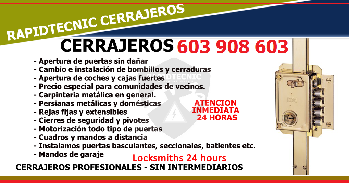 Rapidtecnic cerrajeros arg s toledo 603 908 603 for Cerrajeros 24 horas toledo