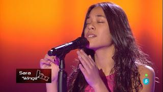 Sara canta el tema Wings de Birdy