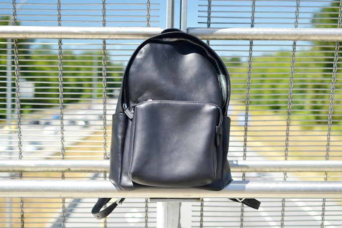 Black leather backpack fashion