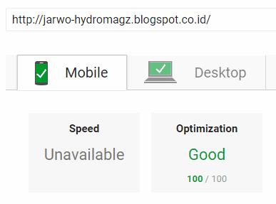 Skor Speed dari Template Jarwo HydroMagz