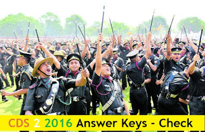 CDS 2 2016 Answer Keys All Sets (A,B,C,D) - 23rd October 2016 Exams