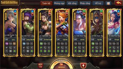 nhân vật trong game đại chúa tể mobile