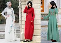 Günlük Tesettür Elbise Modelleri
