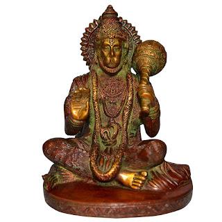 DronaCraft Blessing God Hanuman Brass Sculpture