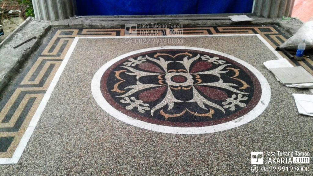 motif lantai karport untuk rumah