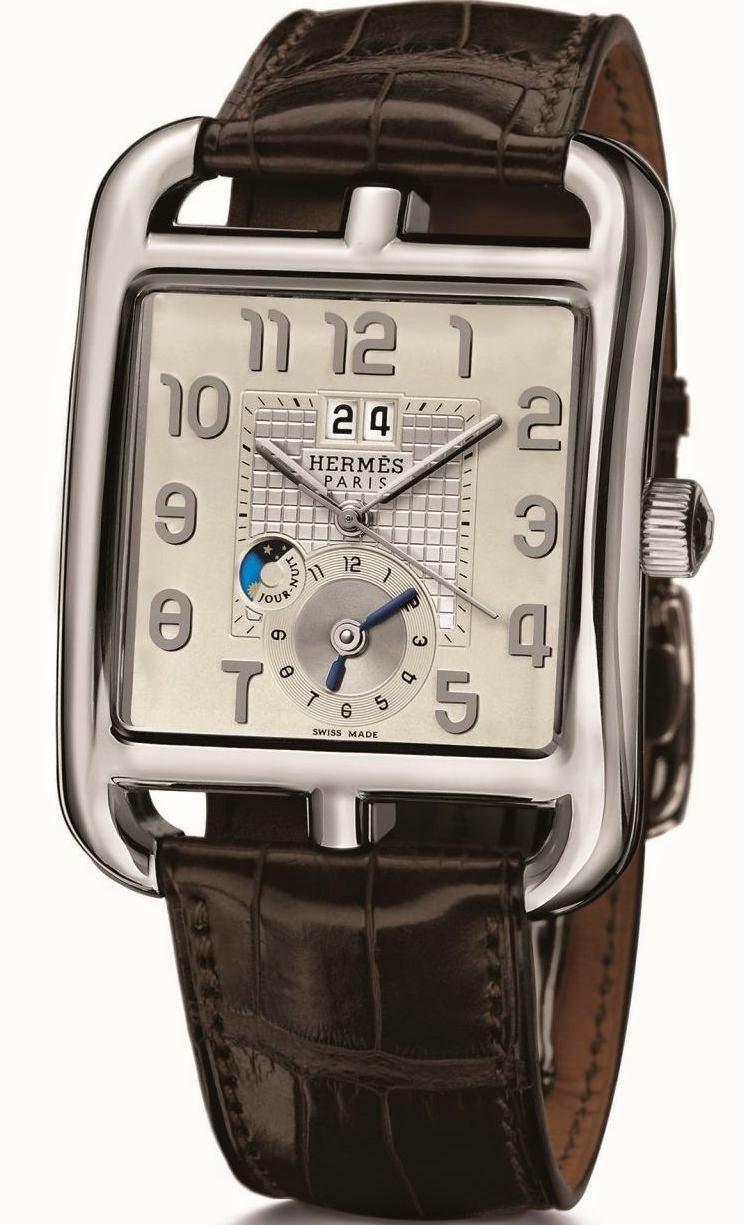 Hermès Cape Cod GMT automatic watch with Soprod Module 9351