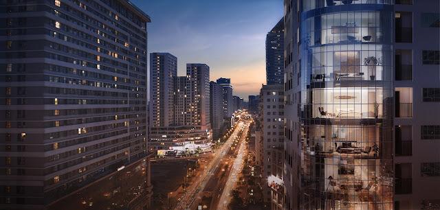 Manhattan Tower nằm tại vị trí sầm uất bậc nhất thủ đô Hà Nội