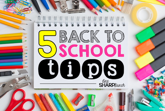 Save your sanity with these 5 back to school tips! So many great ideas for classroom management and classroom organization! Do these now to help manage your time and make your first day of school stress free!