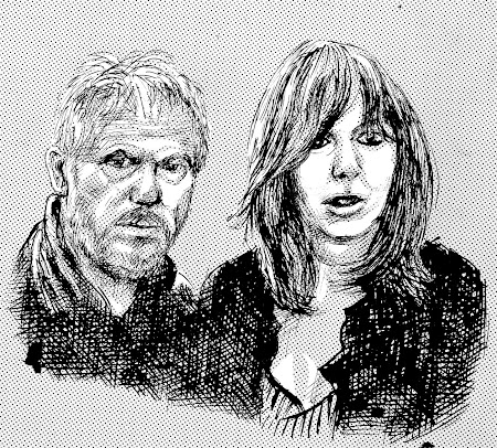 Wreckless Eric et Amy Rigby dessinés par Peter Blegvad