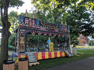 """Dragon Wagon"" amusement ride on the Town Common"