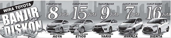 Promo Wira Toyota Banjarmasin Oktober Dp Ringan