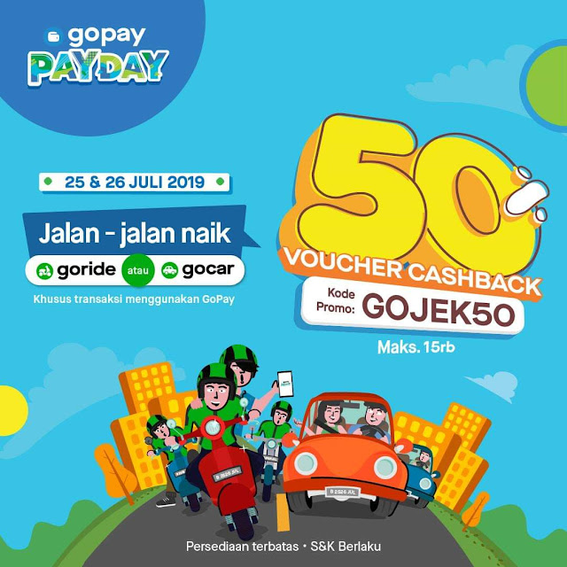 Promo GoPay untuk GoRide dan GoCar.