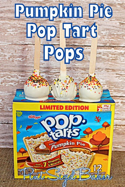 Pumpkin season isn't limited to home baked items, make some Pumpkin Pop Tart Pops!