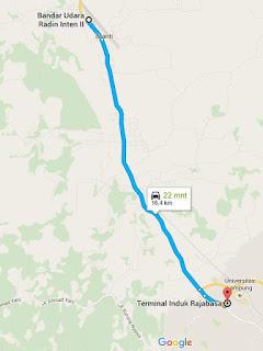 peta dan jarak menurut google maps