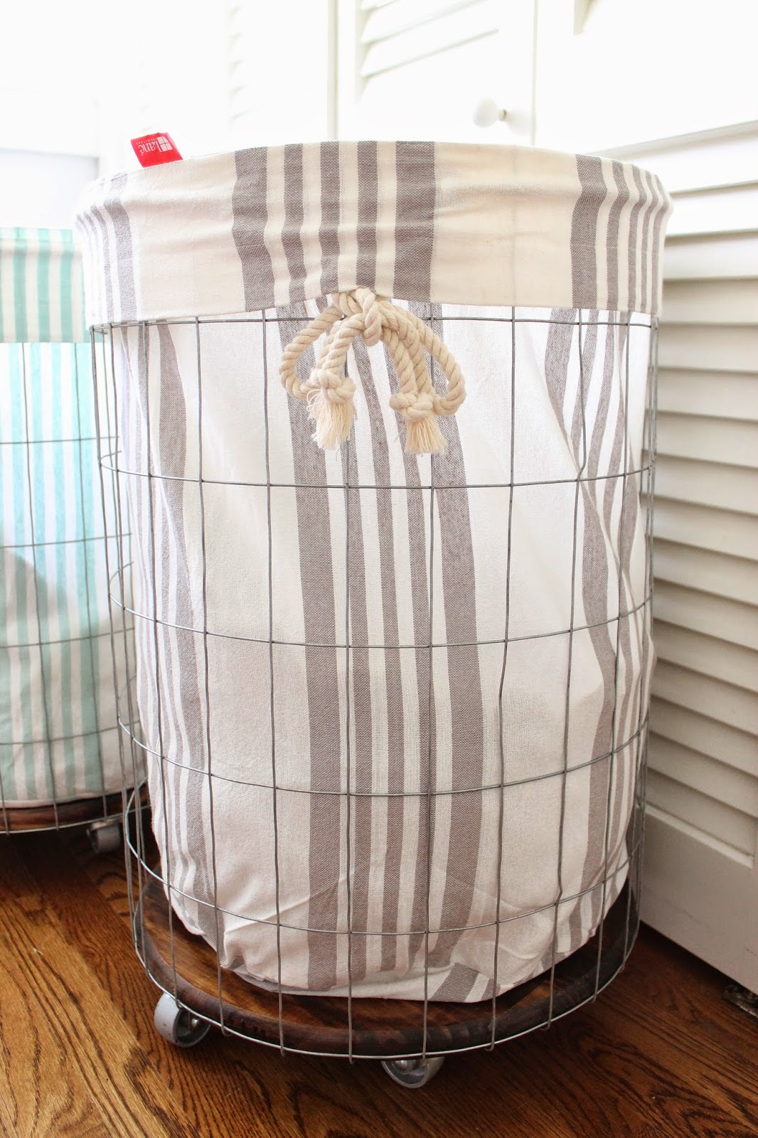 Wire Laundry Hamper On Wheels The Picket Fence Projects Airing Our Dirty Laundry And