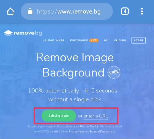5 seconds mein background remove kare is website se