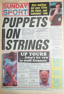 Sunday Sport newspaper back page from 18th January 1987