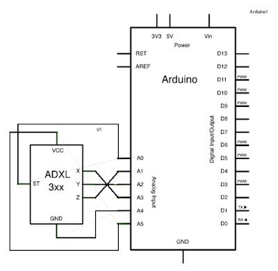 ADXL3xx Accelerometer ~ Arduino Tutorial