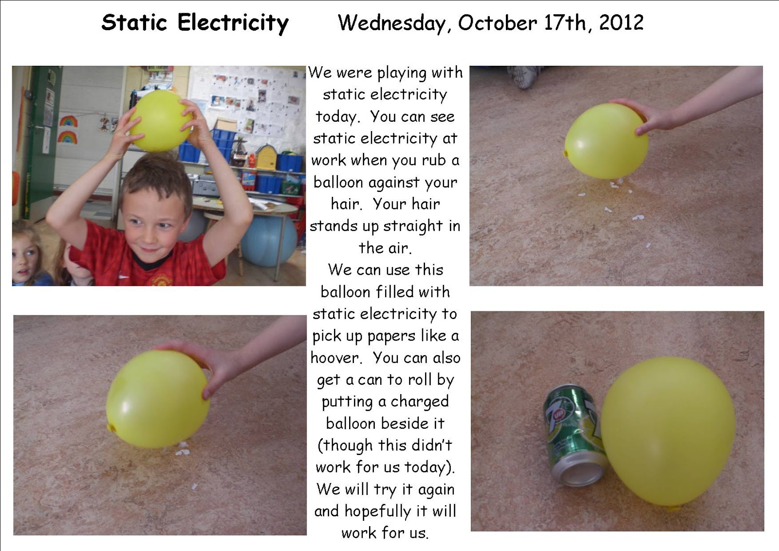 Science Projects Static Electricity