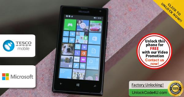 Factory Unlock Code Microsoft Lumia 435 from Tesco