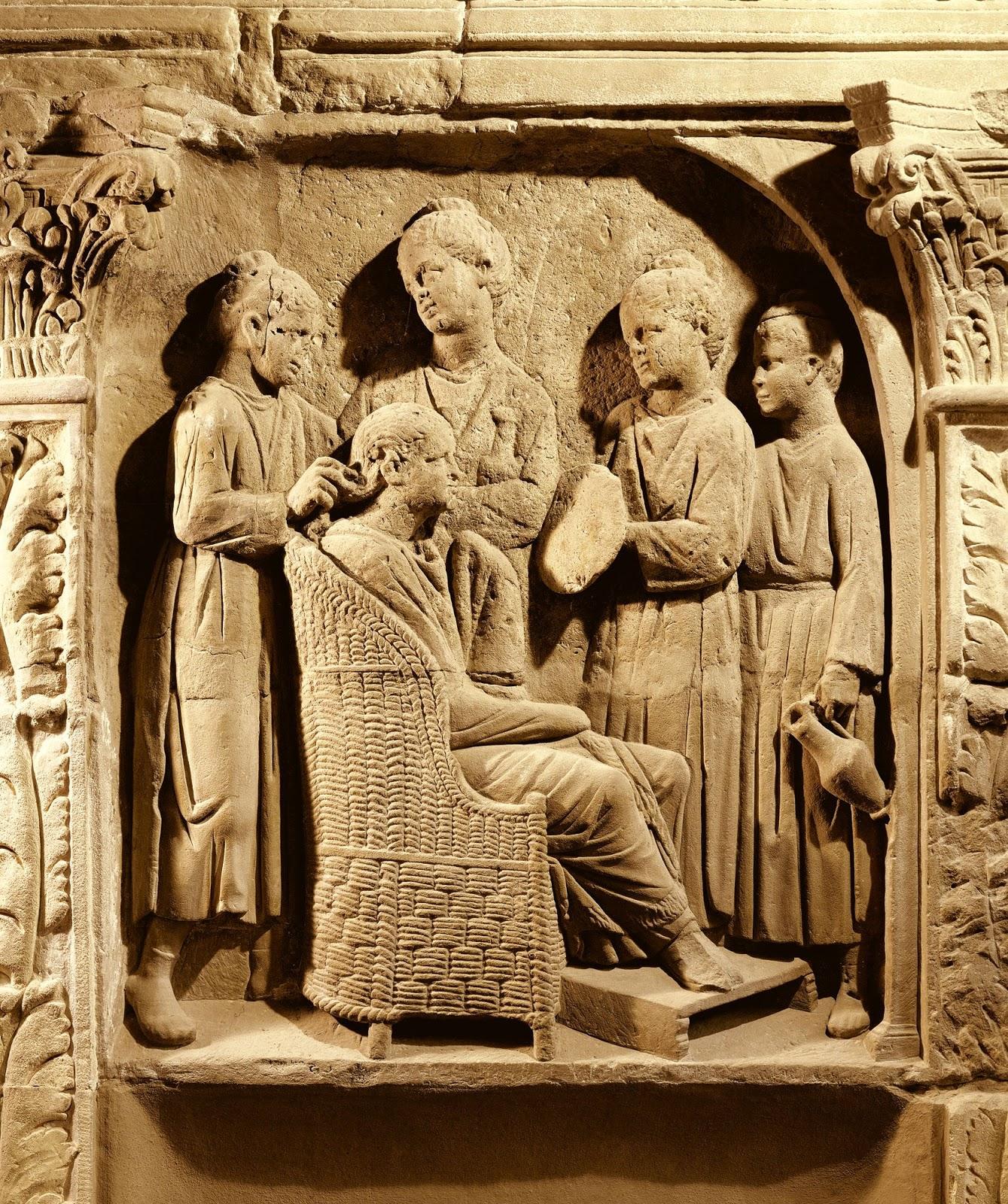 La esttica masculina en la Antigua Roma afeitados