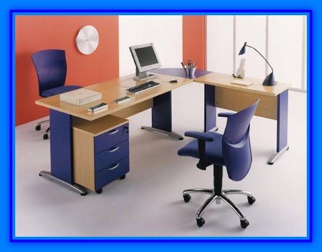 Escritorio para oficina modernos de melamina web del for Escritorio diseno