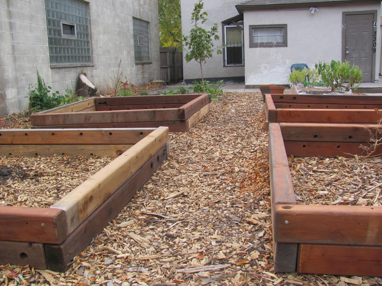 Eighth acre farm building raised garden beds for Garden construction