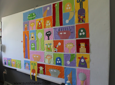 Monster Quilt blocks