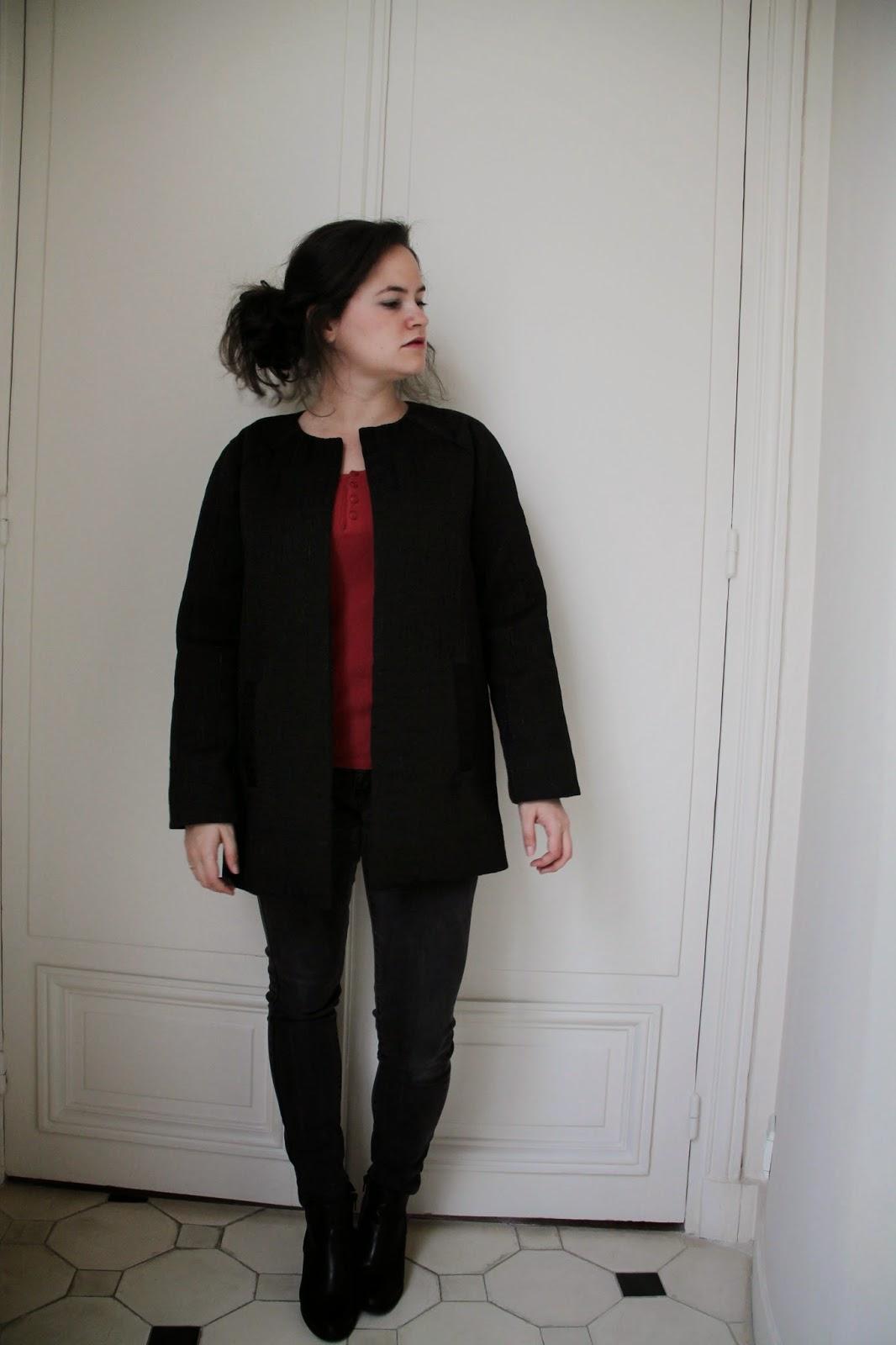 de l 39 aiguille au dressing ma version de la veste chlo. Black Bedroom Furniture Sets. Home Design Ideas