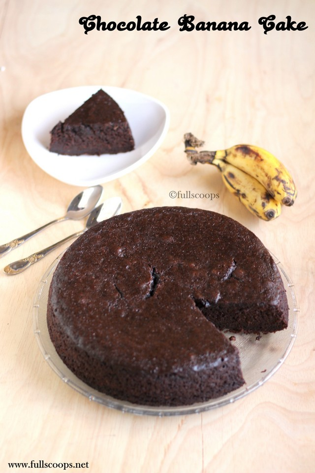 Chocolate Banana Cake Full Scoops A Food Blog With