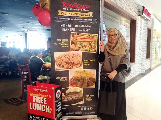 Lovely Bee: SET LUNCH MURAH DI TONY ROMA'S SERENDAH RM16.90
