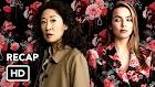 Killing Eve 1° Primeira Temporada Recapitulação (HD) Sandra Oh, série Jodie Comer
