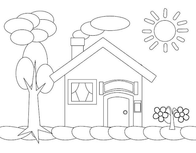 440 Koleksi Gambar Rumah Sederhana Untuk Paud Gratis