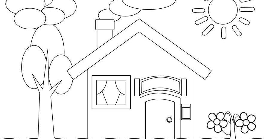 470+ Sketsa Gambar Rumah Untuk Anak Tk Terbaik