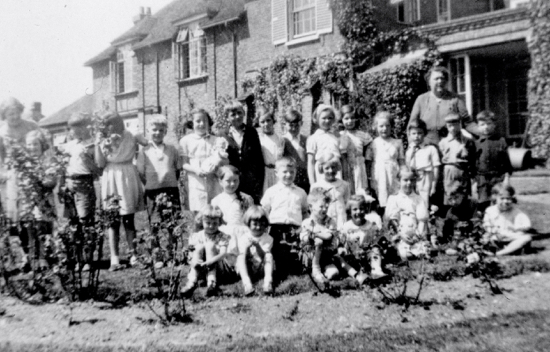 Photograph of children in the parish of North Mymms