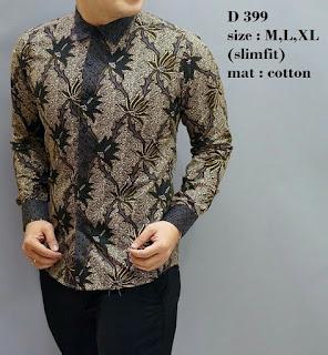 baju batik pria lengan panjang murah