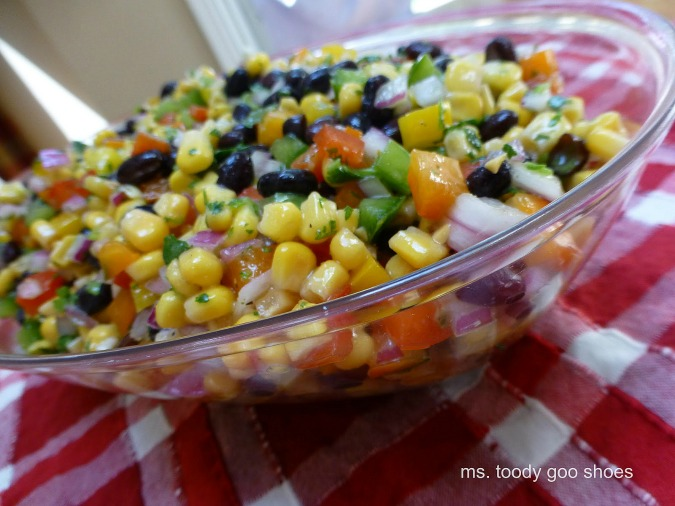 Black Bean and Corn Salad  | Ms. Toody Goo Shoes