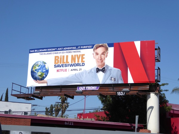 Bill Nye Saves the World Netflix billboard