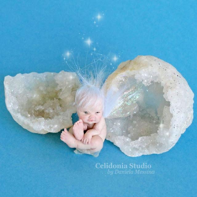 Fatina Del Cristallo in Pasta Sintetica - Fairy Crystal ooak art doll