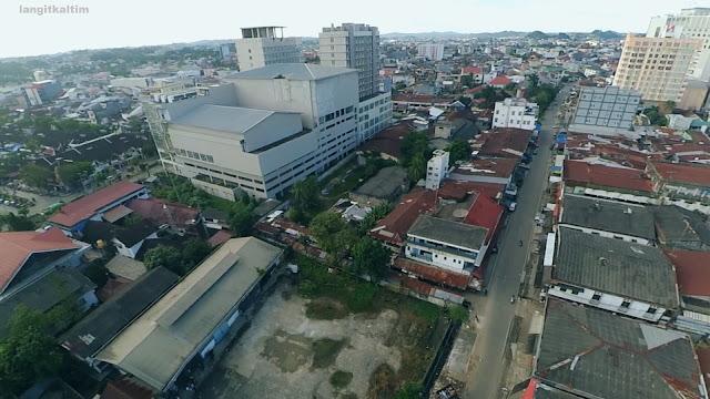 Foto Udara Daerah Utama Pusat Kota Samarinda