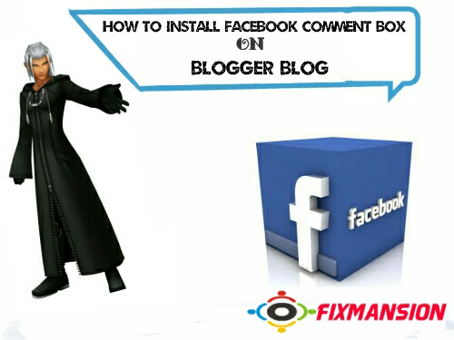 Install latest facebook comment box to blogger