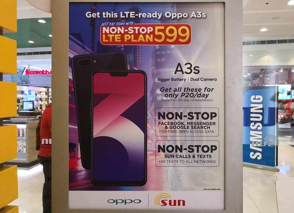OPPO A3s Now Available at Sun Non-Stop LTE Plan 599