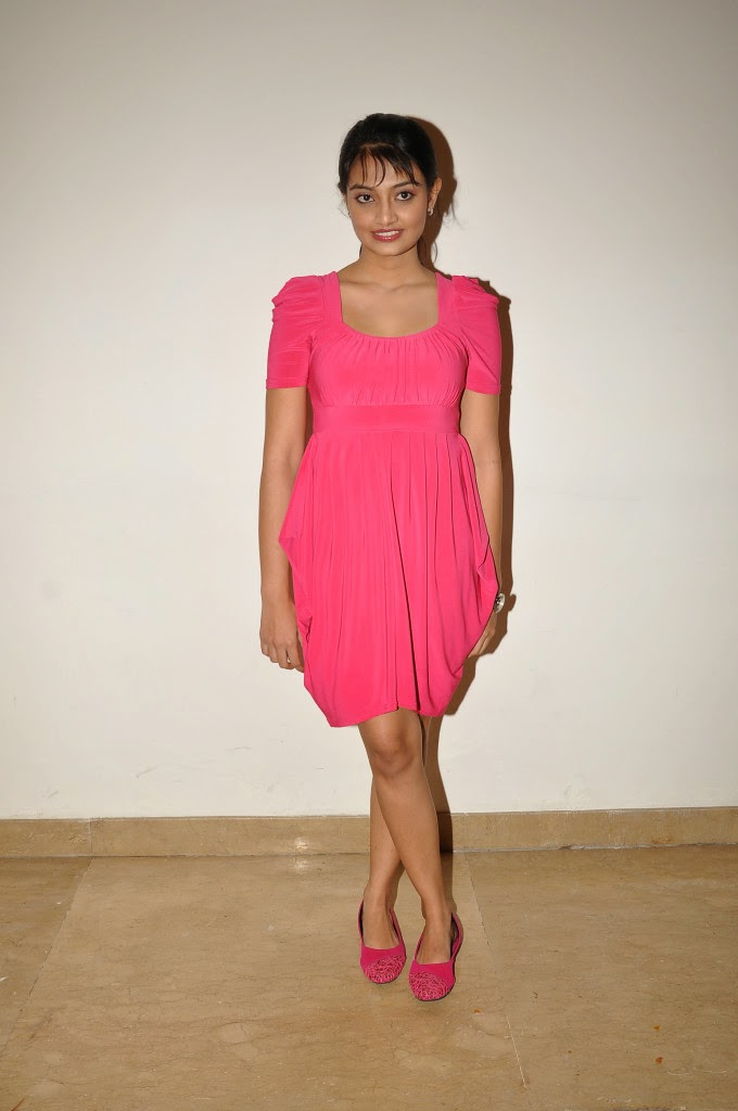 Pretty Nikitha narayan hot photos in pink dress audio release function
