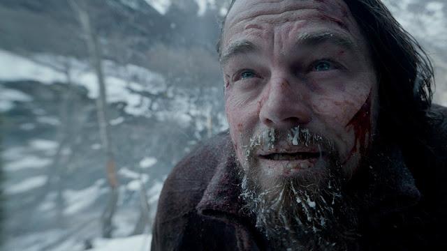Leonardo DiCaprio pasándolo muy mal en la película