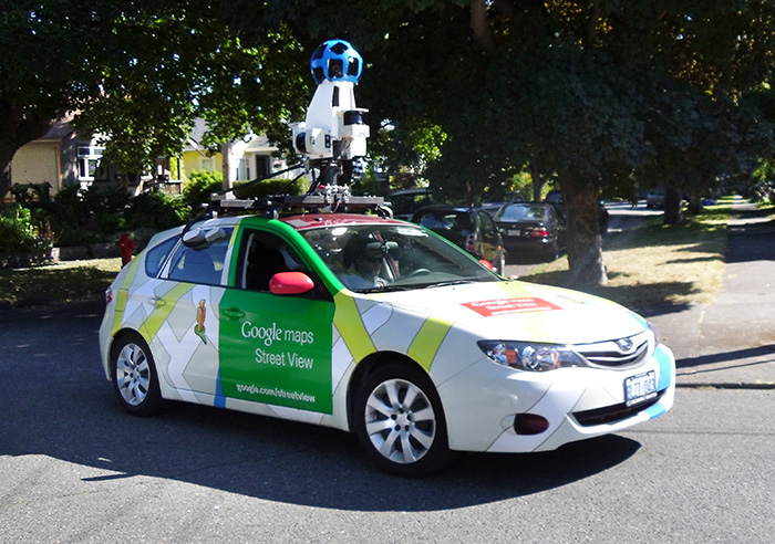 rambling artists it 39 s back google 39 s street view camera car. Black Bedroom Furniture Sets. Home Design Ideas