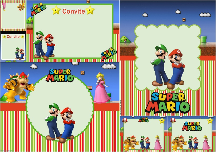 Super Mario Bros Party Free Printable Invitations Oh My Fiesta – Super Mario Bros Party Invitations