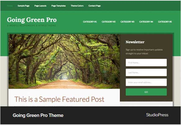 Going Green Pro Award Winning Pro Themes for Wordpress Blog : Award Winning Blog