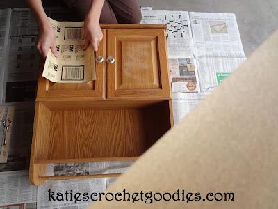 sanding laminate furniture